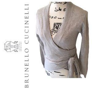 BRUNELLO CUCINELLI 100% Cashmere Gray Sweater